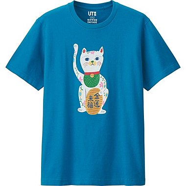 OMIYAGE SHORT SLEEVE GRAPHIC T-SHIRT, BLUE, medium