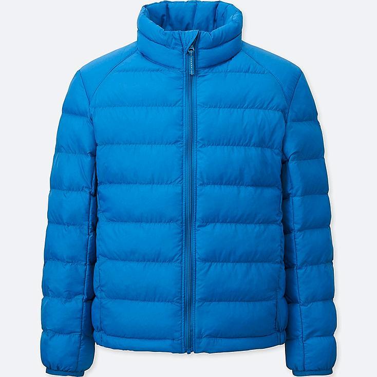 BOYS LIGHT WARM PADDED JACKET, BLUE, large