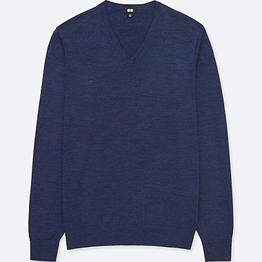 MEN COTTON CASHMERE V-NECK SWEATER | UNIQLO US