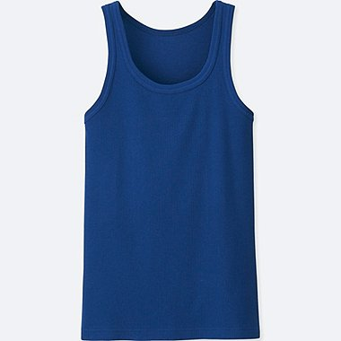 MEN Dry Colour Rib Tank Top