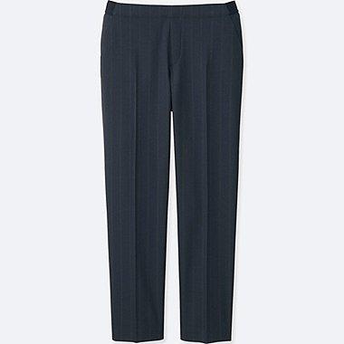 WOMEN SMART ANKLE LENGTH PANTS, BLUE, medium