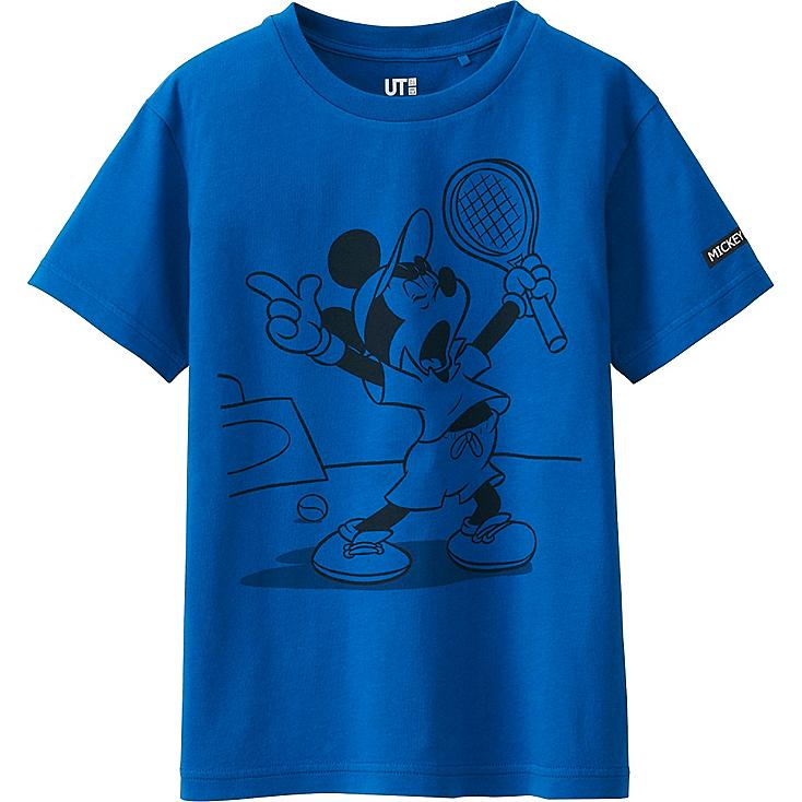 BOYS MICKEY PLAYS SHORT SLEEVE GRAPHIC T-SHIRT, BLUE, large