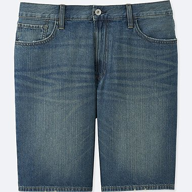 MEN DENIM SHORTS, BLUE, medium