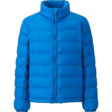 BOYS LIGHT WARM PADDED JACKET, BLUE, medium