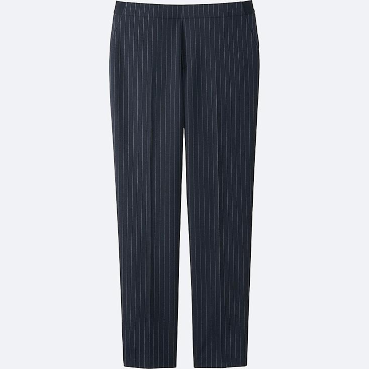 WOMEN SMART STYLE ANKLE LENGTH PANTS, BLUE, large