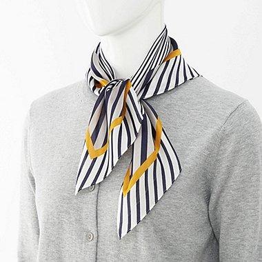 WOMEN Silky Scarf (Stripe)