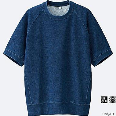 MEN Uniqlo U Short Sleeve Indigo Sweatshirt