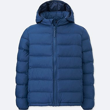 BOYS LIGHT WARM PADDED PARKA, BLUE, medium