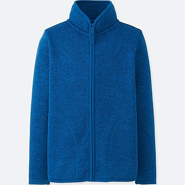 BOYS KNITTED FLEECE FULL-ZIP LONG SLEEVE JACKET