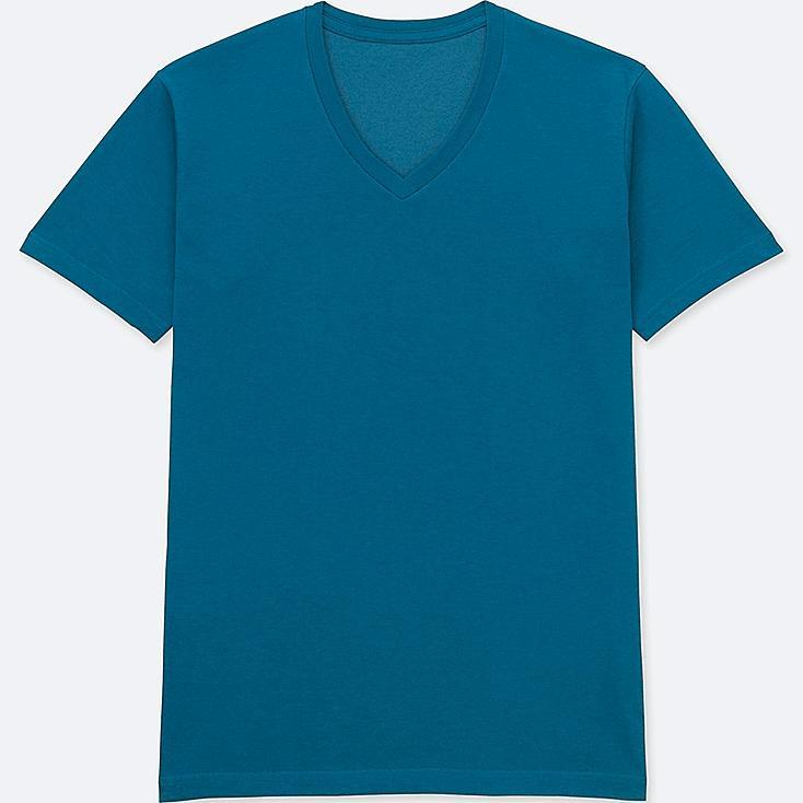 MEN PACKAGED DRY V-NECK SHORT-SLEEVE T-SHIRT, BLUE, large