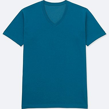 MEN PACKAGED V-NECK SHORT-SLEEVE T-SHIRT, BLUE, medium
