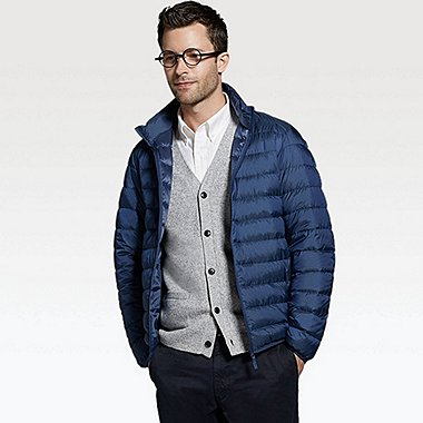 Ultra Light Down Jacket, BLUE, medium