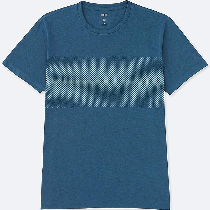 MEN DRY REFLECTIVE PRINT SHORT-SLEEVE T-SHIRT, BLUE, large