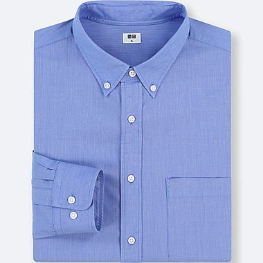 men oxford slim fit long sleeve shirt uniqlo us