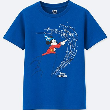 KIDS DISNEY FANTASIA SHORT-SLEEVE GRAPHIC T-SHIRT, BLUE, medium