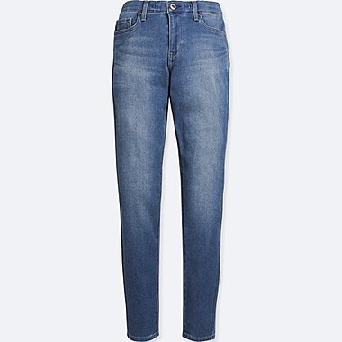 WOMEN EZY JEANS, BLUE, medium
