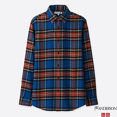 MEN J.W.ANDERSON FLANNEL CHECKED SHIRT