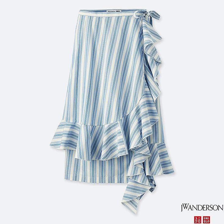WOMEN J.W.ANDERSON Extra Fine Cotton Ruffle Wrap Skirt