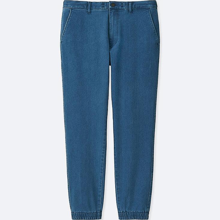 MEN DENIM JOGGER PANTS, BLUE, large