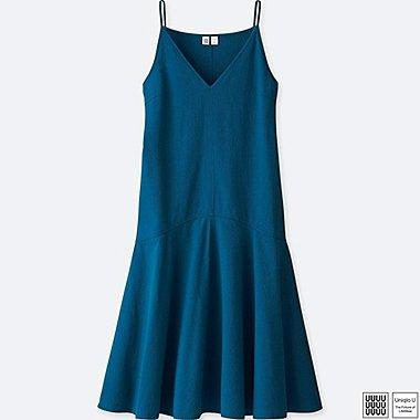 Damen U 100% Baumwoll Seersucker Trägerkleid
