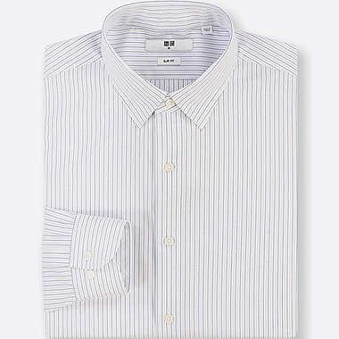 MEN EASY CARE STRIPED STRETCH SLIM FIT SHIRT