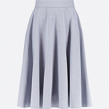 WOMEN CIRCULAR SKIRT, BLUE, medium