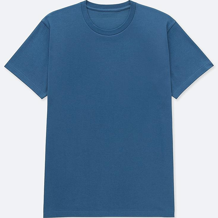 MEN PACKAGED DRY CREW NECK SHORT-SLEEVE T-SHIRT, BLUE, large
