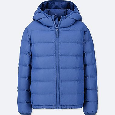 KIDS LIGHT WARM PADDED HOODED PARKA