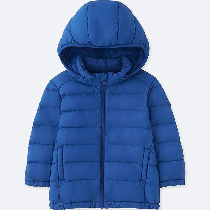 TODDLER LIGHT WARM PADDED FULL-ZIP PARKA, BLUE, large