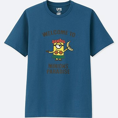 MINIONS SHORT-SLEEVE GRAPHIC T-SHIRT, BLUE, medium