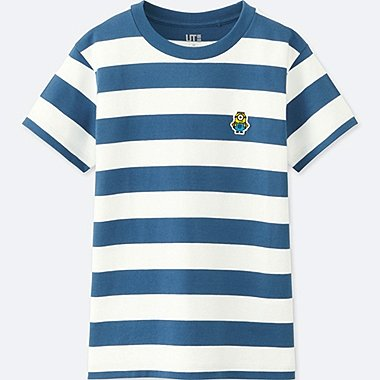 KIDS MINIONS SHORT-SLEEVE GRAPHIC T-SHIRT, BLUE, medium