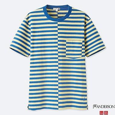 Herren J.W.ANDERSON 100% Baumwoll-T-Shirt (gestreift)