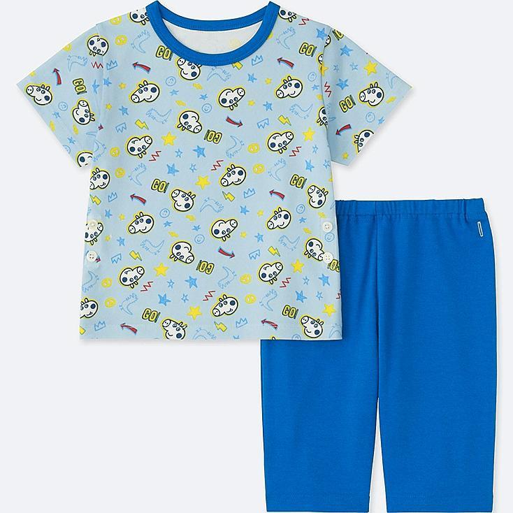 TODDLER PEPPA PIG SHORT-SLEEVE DRY PAJAMAS, BLUE, large
