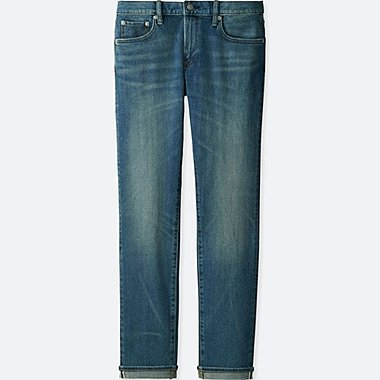 MEN STRETCH SELVEDGE SLIM-FIT JEANS, BLUE, medium