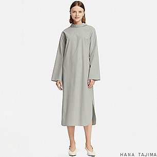 WOMEN MOCK NECK STRIPED LONG-SLEEVE DRESS (HANA TAJIMA)/us/en/women-mock-neck-striped-long-sleeve-dress-hana-tajima-411613.html