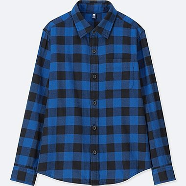 KIDS Flannel Check Long Sleeve Shirt