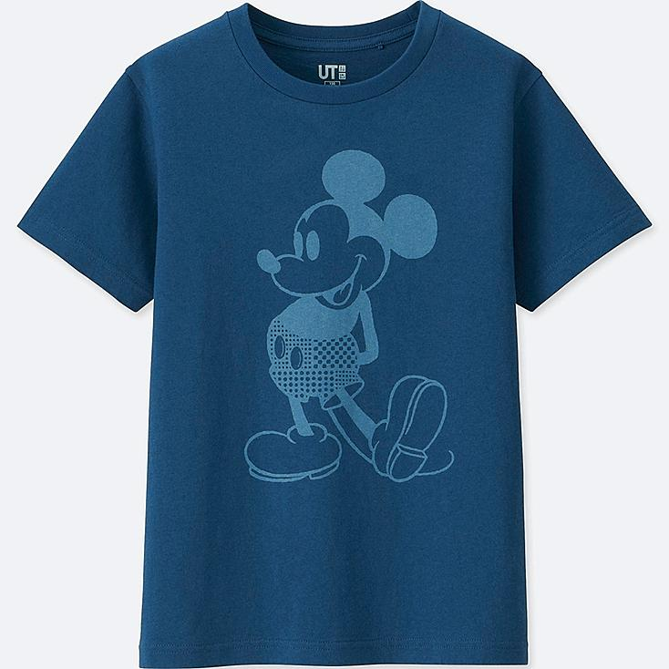 KIDS MICKEY BLUE SHORT-SLEEVE GRAPHIC T-SHIRT, BLUE, large