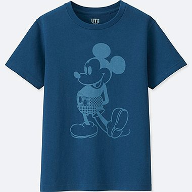KIDS MICKEY BLUE SHORT SLEEVE GRAPHIC T-SHIRT