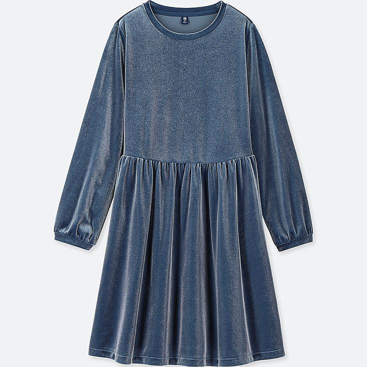 Uniqlo GIRLS VELOUR LONG-SLEEVE DRESS $19.99