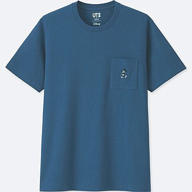 MICKEY BLUE SHORT-SLEEVE GRAPHIC T-SHIRT, BLUE, medium