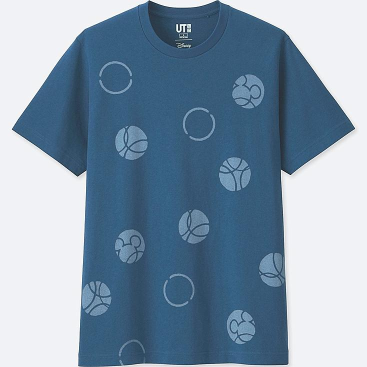 MICKEY BLUE SHORT-SLEEVE GRAPHIC T-SHIRT, BLUE, large