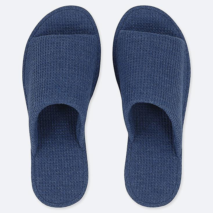 WAFFLE SLIPPERS, BLUE, large