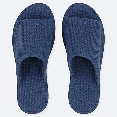 WAFFLE SLIPPERS, BLUE, medium