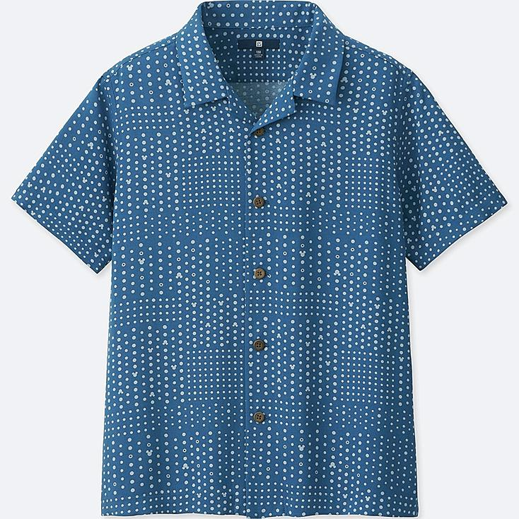 BOYS MICKEY BLUE SHORT-SLEEVE SHIRT (ONLINE EXCLUSIVE), BLUE, large