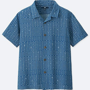 BOYS MICKEY BLUE SHORT-SLEEVE SHIRT (ONLINE EXCLUSIVE), BLUE, medium