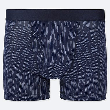 MEN AIRism BOXER BRIEFS, BLUE, medium