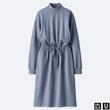 WOMEN UNIQLO U DRAWSTRING LONG SLEEVED DRESS