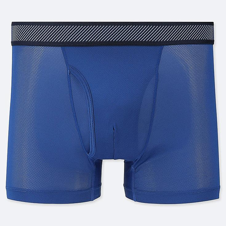 MEN AIRism MESH BOXER BRIEFS, BLUE, large