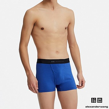 MEN AIRism BOXER BRIEFS (ALEXANDER WANG), BLUE, medium