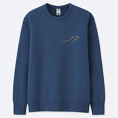 HOKUSAI BLUE GRAPHIC SWEATSHIRT, BLUE, medium